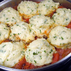 Stewed Tomatoes and Dumplings