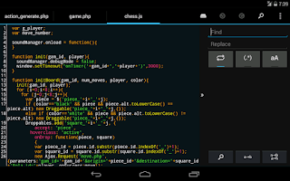 Screenshot of DroidEdit Pro (code editor)