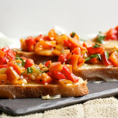 Brie and Red Pepper Crostini