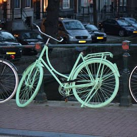 One million bicycles in Amsterdam and 60000 get stolen every year. by Derick Korpel - Transportation Bicycles