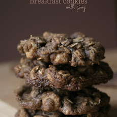 Double Chocolate Breakfast Cookies with Zing
