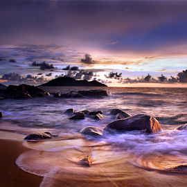 Waves in Coast by Dany Fachry - Landscapes Waterscapes ( beaches, coral, west borneo, waves, indonesia, waterscapes, rocks, coast )