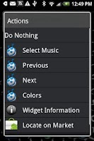 Screenshot of dxTop Music Widget