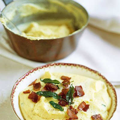 Creamy Polenta with Bacon and Sage