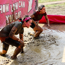 Low by Lou Plummer - Sports & Fitness Running ( water, mud, friends, event, race, running )