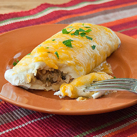Pineapple Chicken Burritos
