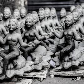 Sarasswati  by Sadat Hossain - Buildings & Architecture Statues & Monuments ( devi, religion, sculpture, hindu, statue, puja, sarasswati, still life, goddess, debi )