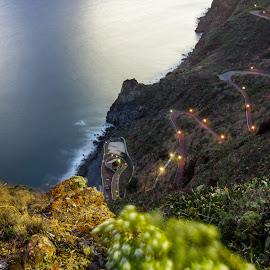 Garajau by Rubina Delgado - Landscapes Mountains & Hills ( madeira island, trail, sea, portugal, nightscape )