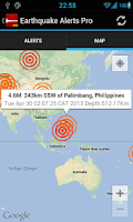 Screenshot of Earthquake Alerts Tracker Pro