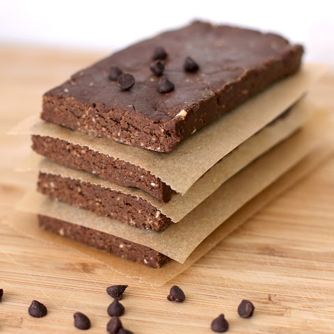 Healthy Homemade Chocolate Peanut Butter Fudge Brownie Protein Bars