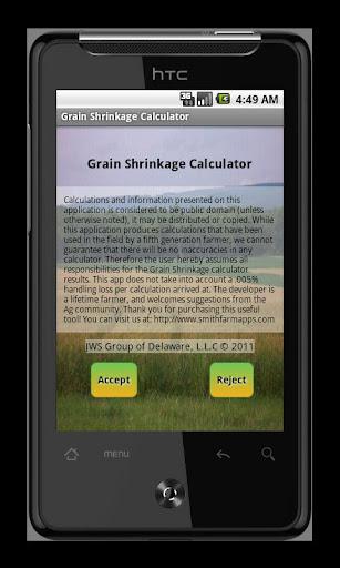 Grain Shrinkage Calculator