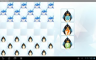 Screenshot of Penguin Checkers