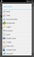 Screenshot of B-Folders Password Manager