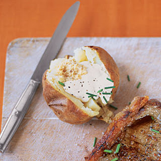 Horseradish and Chive Baked Potatoes