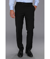 DKNY - Black Plain Pants (Black) - Apparel