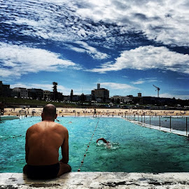 Last Day of Summer at Bondi Icebergs by Dan McEvilly - Sports & Fitness Swimming ( water, bondi, sydney, swimming,  )