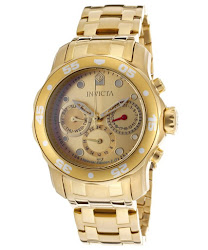 Invicta Women's Pro Diver Gold Tone Dial 18K Gold Plated Stainless Steel