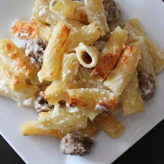 Baked Rigatoni with Mini Meatballs