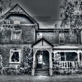 Alone by Elyzabeth Krajewski - Buildings & Architecture Homes ( house home old black and white architecture building,  )