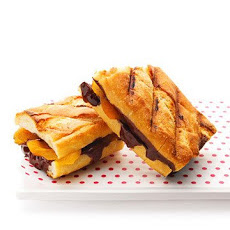 Grilled Chocolate and Apricot Sandwiches