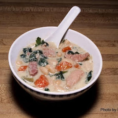 Ham and Bean Soup With Spinach