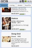 Screenshot of Movies at Cinema