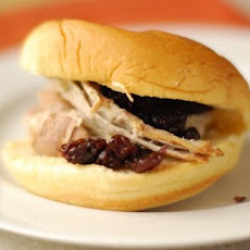 Cherry Cola Pulled Pork with Cherry-Mustard Sauce