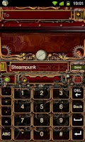 Screenshot of Steampunk GO Keyboard Theme