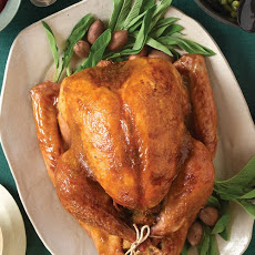 Roast Turkey with Brown Sugar and Mustard Glaze