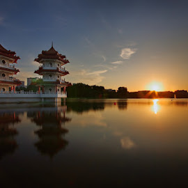 Twin Pagoda by Ken Goh - Buildings & Architecture Public & Historical