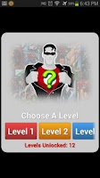 Screenshot of SuperHero Quiz
