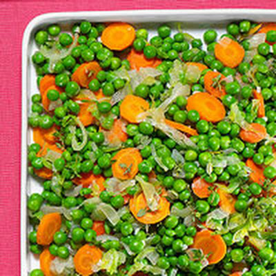 Peas with Lettuce & Carrots