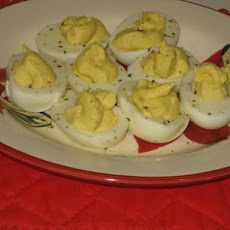 4-Pepper Deviled Eggs(Alton Brown)