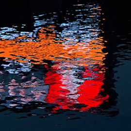 Reflection by Rico Besserdich - Abstract Patterns ( water, reflection, aquatic, rico besserdich, commercial, pond )