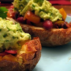 Mini Baked Potatoes With Guacamole