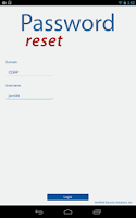 Screenshot of Password Reset