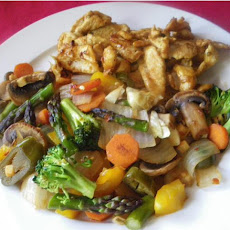 Green Veggie Stir Fry with Mushrooms