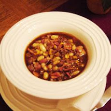 Fiery Bacon, Venison and Bean Soup