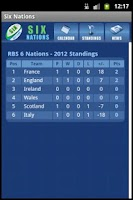 Screenshot of Six Nations Rugby