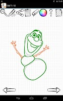 Screenshot of Learn to Draw Olaf Frozen