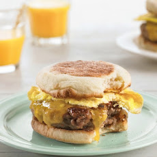 Cheesy Egg Sandwiches with Homemade Sausage
