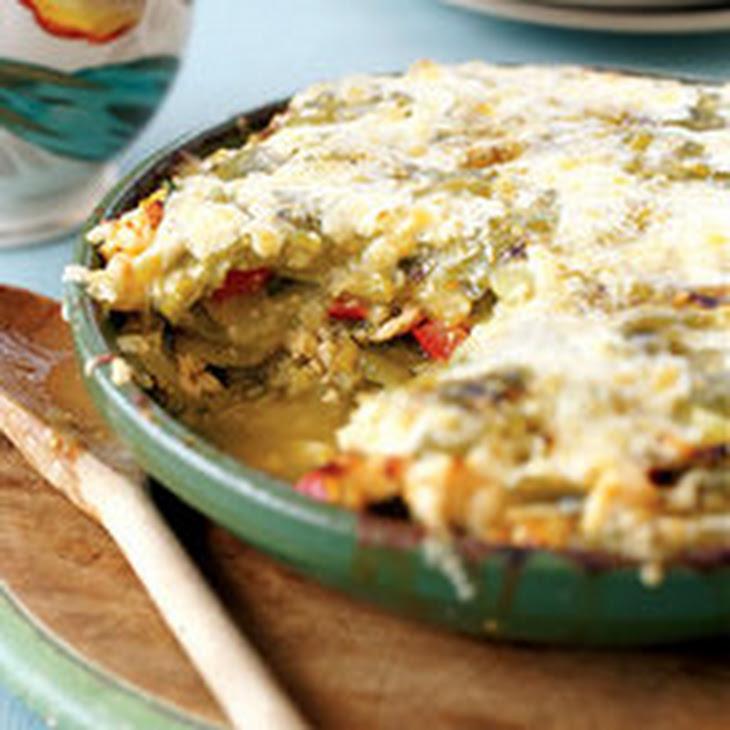 Chicken Tortilla Pie Recept | Yummly
