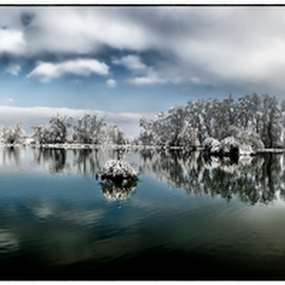 Reflection by Beeback AlterEgo Biba - Landscapes Waterscapes ( reflection, winter, hdr, hdr     landscapes, lake, landscape, HDR, Landscapes )