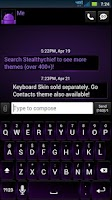 Screenshot of GO SMS Dark Purple Theme