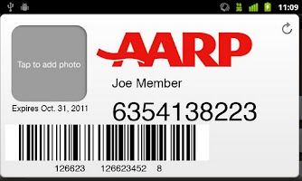 Screenshot of AARP