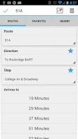 Screenshot of YourBus AC Transit