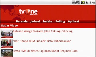 Screenshot of tvOneNews Launcher