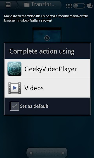 Geeky Video Player