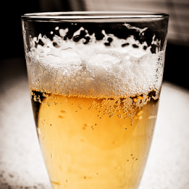 Cheers by Suzana Trifkovic - Food & Drink Alcohol & Drinks ( beer, beer head, drink, white, cheers, golden, foam,  )