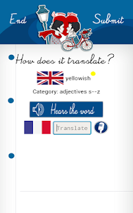 Learn FRENCH with Words FREE - screenshot